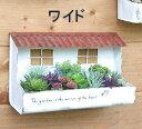 ティンルーフプランター ワイドサイズ レッド アンティーク風 azi-azi アジアジ 壁掛けプランター ガーデン 雑貨 ハンギング ポット ガーデニング雑貨