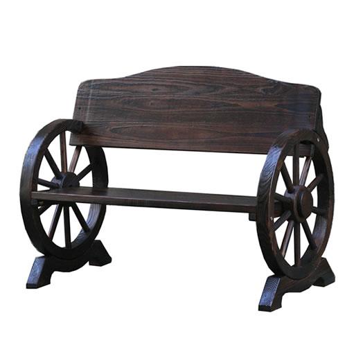 【送料無料】[焼松車輪ベンチ1100 [ガーデニング ガーデンベンチ 木製 収納庫 物置き…...:grandeshop:10010523
