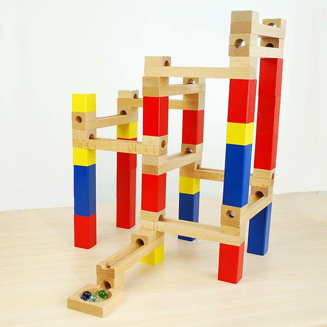 【goki 玉の道 組み立てあそび カラークーゲルバーン 54ピース】6歳頃〜 スロープ 木製 木のおもちゃ ピラゴラスイッチ 知育玩具 空間認知■送料無料■あす楽■クリスマス