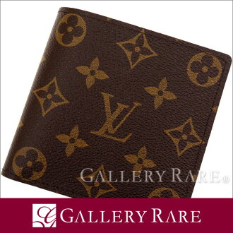 Louis Vuitton wallet Monogram Canvas long wallet fold Marco M61675 LOUIS VUITTON two Vuitton men's wallet