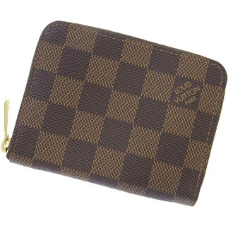 Put Louis Vuitton coin purse Damier zippy coin purse N63070 VUITTON LOUIS VUITTON wallet coin