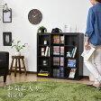 本棚 スライド式本棚 スライド書棚 幅89cm ダブル 木製 ブックシェルフ ラック 収納 大容量 コミック収納 【ストーク】