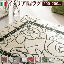 【10/20限定 クーポン20%オフ】イタリア製ゴブラン織ラグ Camelia〔カメリア〕200×200cm ラグ ラグカーペット 正方形 引越し祝い 母の日