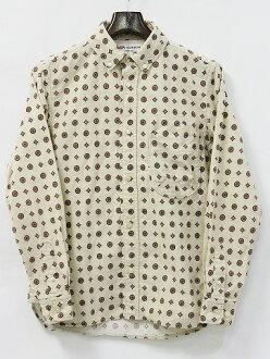 NAVY&GROUND KATO AAA (ネイビーアンドグラウンドカトートリプルエー) tight fit flannelette B.D shirt button-down shirt IVORY S 12A/W