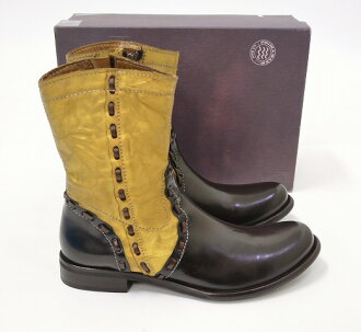 PRIMA BASE (プリマバーゼ) SIDE ZIP BOOTS GOLD 41 サイドジップ boots
