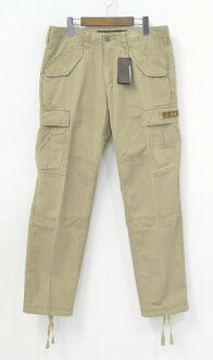 Backchannel back channel CARGO PANTS cargo pants 6 Pocket pants military pants BEIGE S