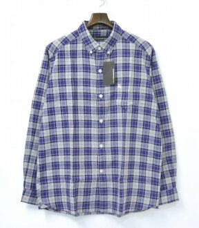 BackChannel (バックチャンンネル) CHECK B.D. SHIRT check button-down shirt PURPLE L BACK CHANNEL