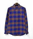 【中古】 SWAGGER (スワッガー) CHECK NEL B.D SHIRT チェックネルボタンダウンシャツ M BLUE L/S ロングスリーブ 長袖