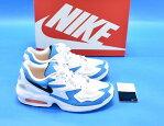 NIKE (ナイキ) AIR MAX2 LIGHT エアマックス2 ライト US9.5 27.5cm WHITE/BLACK-BLUE LAGOON AO1741-100 ランニングシューズ スニーカー 靴