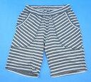 【新品】 Nothing Special (ナッシングスペシャル) Border Shorts ボーダーショーツ Gray ショートパンツ ハーフパンツ 短パン L
