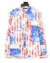 【新品】 CathyJane(キャシージェーン)アメリカンフラッグプリントシャツ 星条旗 長袖シャツ L/S SHIRT 2