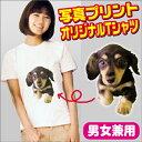 オリジナルTシャツ【ホワイト】写真プリント 男女兼用 おもしろTシャツ オーダーメイ