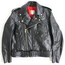 【中古】極美品☆ルイスレザー Lewis Leather サイクロン 441 オーバルパッチ レザーライダースジャケット ブラック 40 イングランド製 メンズ