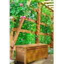 ボックスウッドベンチ / 木製物置 90cm / ホワイト ブ