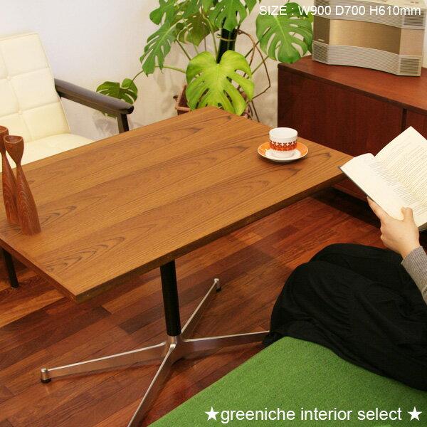 【送料無料】グリニッチオリジナルテーブル900×700 天然木(チーク材)を使用!!高さが…...:greeniche:10000108