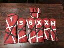Rose&Fire Red Funny Stripe Headcover Red/Black/White ローズアンドファイアー レッドファニー ストライプ ヘッドカバー レッド ブラック ホワイト