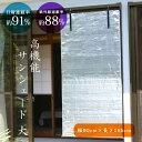 【2本組】高機能サンシェード [大][幅90cm×長さ185cm] (z2/アルミ すだれ 省エネ 節電