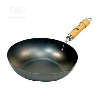 河燈杆根系列鐵煎鍋 [油炸鍋,30 釐米] (河燈 / 鐵煎鍋 / 炒鍋炒的菜烤菜 / 氣體 IH / 日本製造 / 4903449118151)