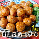 【クール便送料別途】ベジタリアン対応おかず屋さんの業務用大豆ミートボール1kg(100