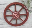 アラモードルー レッド(MA1875)木製車輪 /カントリー雑貨・ガーデニング・鉢・ジャンクガーデン・庭・玄関・ギフト/プレゼント