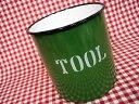RoomClip商品情報 - HOMESTEAD ホームステッド ホーロー ロゴがおしゃれなツールホルダー 緑/AX-HS1154/カントリー雑貨・キッチン・箸入れなど