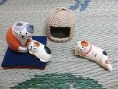 セール★concombre 猫ちぐら 【マスコットEセット】玄関先などに♪/飾り・人形・フィギュア・ガーデニング・カントリー雑貨【袋60】