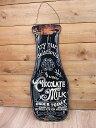 ティンプレートダイカットブラックサイン チョコミルク key...