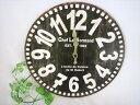 セール★アンティーク風木製壁掛け時計オールドルック こげ茶/OLCLWCBKウォールクロック・カントリー雑貨