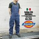オーバーオール Dickies ディッキーズ 83-294 83294 INDIGO BLUE DENIM ワークショーツ インディゴ デニ...