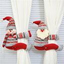 ショッピングカーテン インテリアleaves デコパーツクリスマス装飾カーテンクリップホテルレストランサンタクロース雪だるまトナカイ (T)