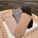 ショッピングショーツ 手袋 五本指 スマホ対応 防寒 無地 韓国ファッション (T)