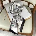 スカーフ ファッション 日焼け止め ストライプ 幾何柄 レディース 韓国ファッション (T)