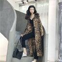 ショッピングレオパード 韓国ファッション レオパード シャツ 女性らしい トレンチコート(T)