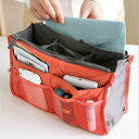 ショッピングメイクボックス 手提げバッグ 整理ポーチ 化粧ポーチ メイクボックス コスメポーチ バッグインバッグ 多機能(T)