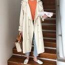 ショッピングベビードール ダブルボタン ゆったり 韓国ファッション ファッション 薄手 トレンチコート コート(T)