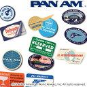 日本製 PAN AM パンナム トラベルステッカー4枚入り 531017 メール便OK(je1a400)