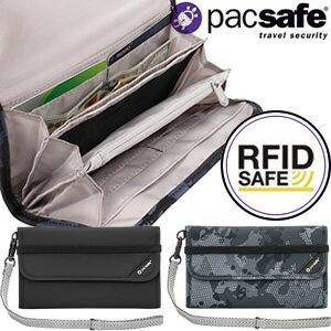 防犯用!PacSafe(パックセーフ)17 RFIDセーフV250(蛇腹式長財布)12970204 ストラップ付(ei0a142)【あす楽対応】
