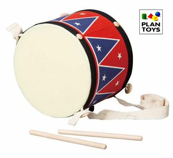 プラントイ木のおもちゃPLANTOYSビックドラム2ビッグドラム太鼓たいこ楽器玩具木製玩具知育玩具あ