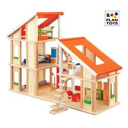 木製玩具プラントイシャレードールハウス家具付きおままごとに