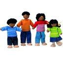 木製玩具 プラントイ エスニックファミリー人形4体セット おままごとに