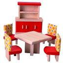 木製玩具 プラントイ ドールハウス カラーダイニング おままごとに