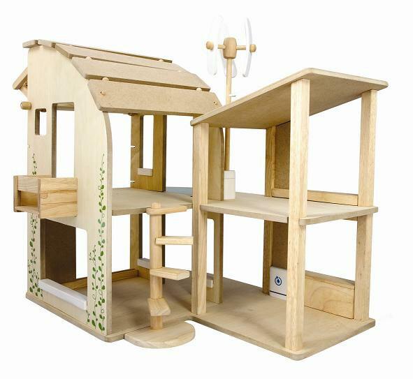 プラントイ 木のおもちゃ PLANTOYS グリーンドールハウス 環境教育 木製玩具