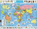 ラーセン 107ピース 世界地図 パズル 英語 知育玩具 LARSEN 【あす楽対応】