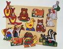 木のおもちゃ 知育玩具 アニマルパズル 木製パズルボード