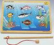 木のおもちゃ 知育玩具 磁石遊び フィッシングパズル 釣り 木製パズル 【あす楽対応】