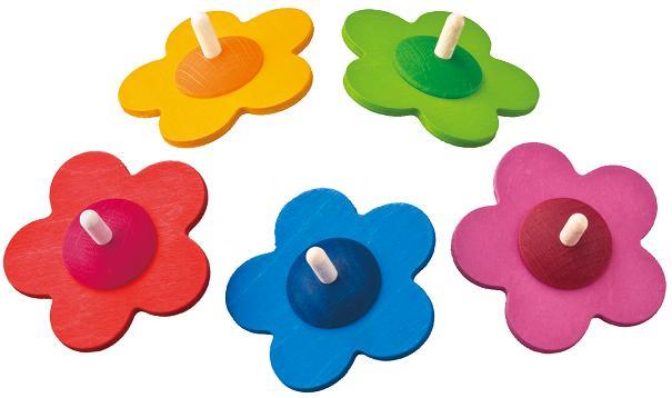 ベック社 木のおもちゃ ドイツ製 花こま コマ 木製玩具 知育玩具