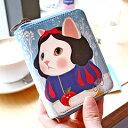 ショッピングサイフ jetoy ジェトイ choochoo本舗 猫雑貨 かわいい猫のカード札入れ 白雪姫ネコの財布 ねこ柄 箱付き 【あす楽対応】