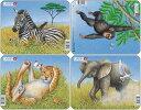 ラーセン 動物4枚セット 36ピース パズル 知育玩具 ゾウ・しまうまなど LARSEN 【あす楽対応】