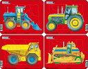 ラーセン 働く車4枚セット 40ピース パズル 知育玩具 乗り物 LARSEN 【あす楽対応】...