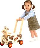 【写评论礼物】【】树的玩具Aimu玩具walker&liedo cow 手推车,乘玩具,谜,拉玩具合为一体牛★马上发送★【明天音乐对应关东】【明天音乐对应甲信越】【明天音乐对应东海[木のおもちゃ アイムトイ ウォーカ
